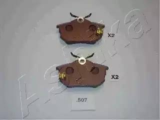 Ashika 51-05-507 - Σετ τακάκια, δισκόφρενα asparts.gr