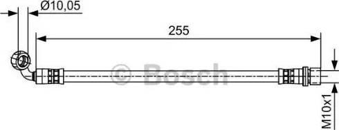 BOSCH 1987481647 - Ελαστικός σωλήνας φρένων asparts.gr