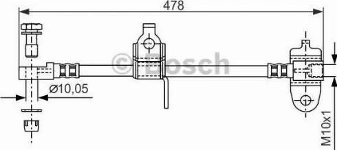 BOSCH 1987481070 - Ελαστικός σωλήνας φρένων asparts.gr