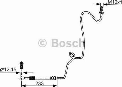BOSCH 1987481339 - Ελαστικός σωλήνας φρένων asparts.gr