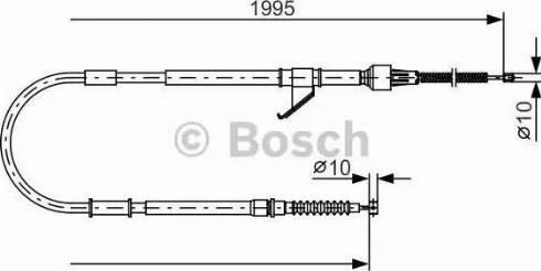 BOSCH 1987482069 - Ντίζα, φρένο ακινητοποίησης asparts.gr