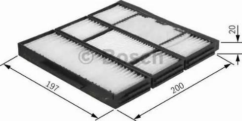BOSCH 1 987 432 155 - Φίλτρο, αέρας εσωτερικού χώρου asparts.gr