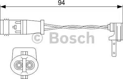 BOSCH 1987474553 - Προειδοπ. επαφή, φθορά υλικού τριβής των φρένων asparts.gr
