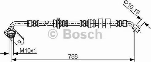 BOSCH 1987476935 - Ελαστικός σωλήνας φρένων asparts.gr