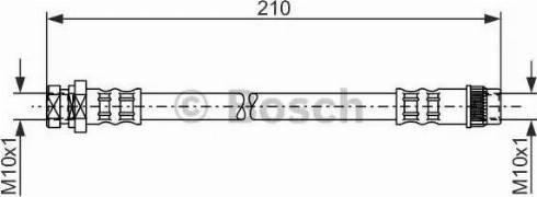 BOSCH 1987476044 - Ελαστικός σωλήνας φρένων asparts.gr