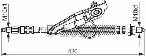 BOSCH 1987476816 - Ελαστικός σωλήνας φρένων asparts.gr
