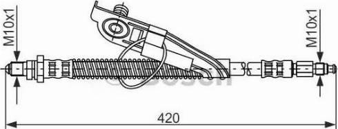 BOSCH 1987476817 - Ελαστικός σωλήνας φρένων asparts.gr