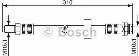 BOSCH 1987476883 - Ελαστικός σωλήνας φρένων asparts.gr