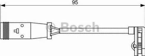 BOSCH 1987473036 - Προειδοπ. επαφή, φθορά υλικού τριβής των φρένων asparts.gr