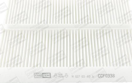 Champion CCF0338 - Φίλτρο, αέρας εσωτερικού χώρου asparts.gr