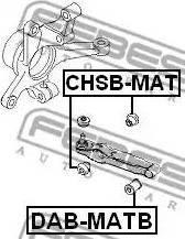 Febest CHSB-MAT - Saylentblok, μοχλοί βραχίονα ανάρτησης τροχού asparts.gr