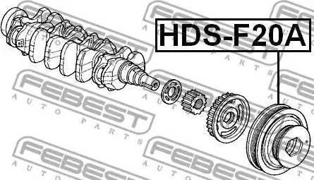 Febest HDS-F20A - Τροχαλία ιμάντα, στροφαλοφόρος άξονας asparts.gr