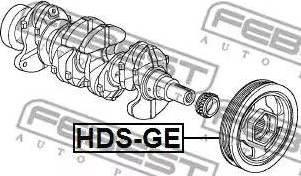 Febest HDS-GE - Τροχαλία ιμάντα, στροφαλοφόρος άξονας asparts.gr