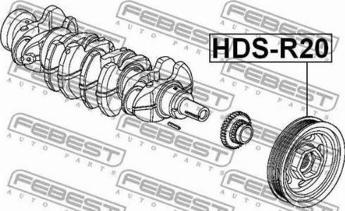 Febest HDS-R20 - Τροχαλία ιμάντα, στροφαλοφόρος άξονας asparts.gr