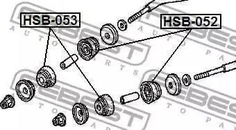 Febest HSB-053 - Saylentblok, μοχλοί βραχίονα ανάρτησης τροχού asparts.gr
