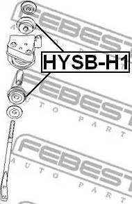 Febest HYSB-H1 - Saylentblok, μοχλοί βραχίονα ανάρτησης τροχού asparts.gr