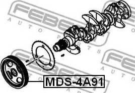 Febest MDS-4A91 - Τροχαλία ιμάντα, στροφαλοφόρος άξονας asparts.gr