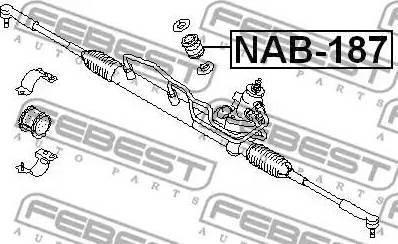 Febest NAB-187 - Έδραση, πυξίδα διεύθυνσης asparts.gr