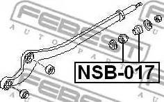 Febest NSB-017 - Saylentblok, μοχλοί βραχίονα ανάρτησης τροχού asparts.gr