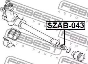 Febest SZAB-043 - Έδραση, πυξίδα διεύθυνσης asparts.gr