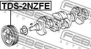 Febest TDS-2NZFE - Τροχαλία ιμάντα, στροφαλοφόρος άξονας asparts.gr