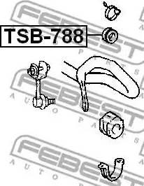 Febest TSB-788 - Έδραση, διαμήκης δοκός άξονα asparts.gr