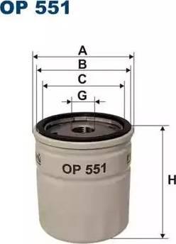 Filtron OP551 - Φίλτρο, αναπνοή του στροφαλοθάλαμου asparts.gr