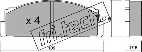 Fri.Tech. 001.0 - Σετ τακάκια, δισκόφρενα asparts.gr