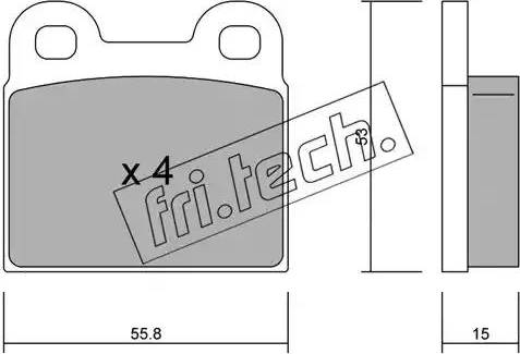 Fri.Tech. 002.1 - Σετ τακάκια, δισκόφρενα asparts.gr