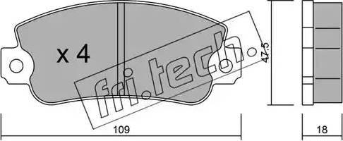 Fri.Tech. 035.0 - Σετ τακάκια, δισκόφρενα asparts.gr