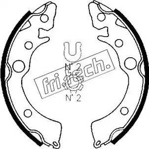 Fri.Tech. 1044.007 - Σετ φρένων, φρένα τυμπάνων asparts.gr