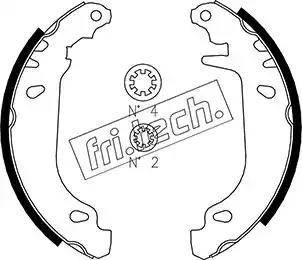 Fri.Tech. 1088.216 - Σετ φρένων, φρένα τυμπάνων asparts.gr
