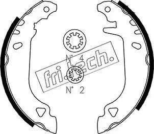 Fri.Tech. 1034.090S - Σετ φρένων, φρένα τυμπάνων asparts.gr