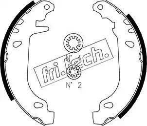 Fri.Tech. 1022.032 - Σετ φρένων, φρένα τυμπάνων asparts.gr