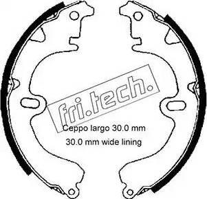Fri.Tech. 1115.274 - Σετ φρένων, φρένα τυμπάνων asparts.gr