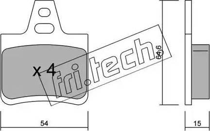 Fri.Tech. 294.0 - Σετ τακάκια, δισκόφρενα asparts.gr
