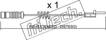 Fri.Tech. SU-099 - Προειδοπ. επαφή, φθορά υλικού τριβής των φρένων asparts.gr