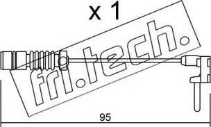Fri.Tech. SU-011 - Προειδοπ. επαφή, φθορά υλικού τριβής των φρένων asparts.gr