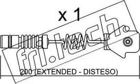 Fri.Tech. SU-012 - Προειδοπ. επαφή, φθορά υλικού τριβής των φρένων asparts.gr