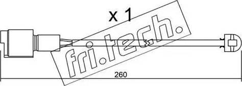 Fri.Tech. SU-074 - Προειδοπ. επαφή, φθορά υλικού τριβής των φρένων asparts.gr