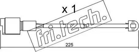 Fri.Tech. SU-075 - Προειδοπ. επαφή, φθορά υλικού τριβής των φρένων asparts.gr