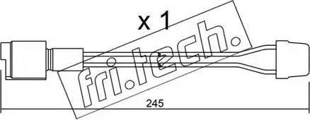 Fri.Tech. SU-072 - Προειδοπ. επαφή, φθορά υλικού τριβής των φρένων asparts.gr