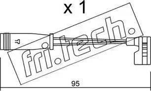 Fri.Tech. SU-164 - Προειδοπ. επαφή, φθορά υλικού τριβής των φρένων asparts.gr