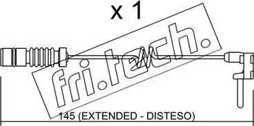 Fri.Tech. SU-161 - Προειδοπ. επαφή, φθορά υλικού τριβής των φρένων asparts.gr