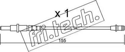 Fri.Tech. SU-163 - Προειδοπ. επαφή, φθορά υλικού τριβής των φρένων asparts.gr