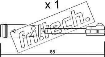 Fri.Tech. SU-314 - Προειδοπ. επαφή, φθορά υλικού τριβής των φρένων asparts.gr