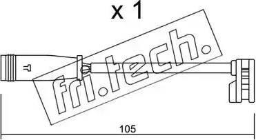 Fri.Tech. SU-313 - Προειδοπ. επαφή, φθορά υλικού τριβής των φρένων asparts.gr