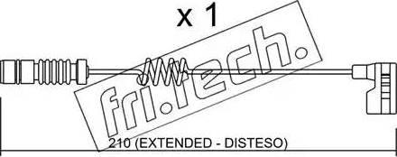Fri.Tech. SU-209 - Προειδοπ. επαφή, φθορά υλικού τριβής των φρένων asparts.gr