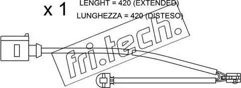 Fri.Tech. SU-217 - Προειδοπ. επαφή, φθορά υλικού τριβής των φρένων asparts.gr