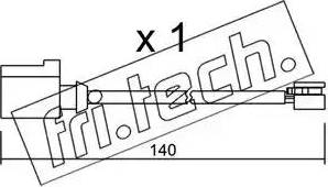 Fri.Tech. SU-274 - Προειδοπ. επαφή, φθορά υλικού τριβής των φρένων asparts.gr